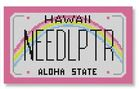 click here to view larger image of Mini License Plate - Hawaii (hand painted canvases)