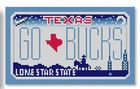 click here to view larger image of Mini License Plate - Go Bucks - Texas (hand painted canvases)