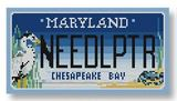 click here to view larger image of Mini License Plate - Maryland Chesapeake Bay (hand painted canvases)
