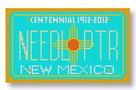 click here to view larger image of Mini License Plate - New Mexico (hand painted canvases)