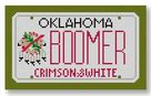 click here to view larger image of Mini License Plate - Boomer - Oklahoma (hand painted canvases)