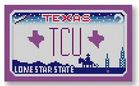 click here to view larger image of Mini License Plate - TCU - Texas Christian University (hand painted canvases)