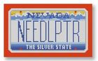 click here to view larger image of Mini License Plate - Nevada (hand painted canvases)