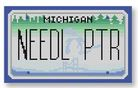 click here to view larger image of Mini License Plate - Michigan (hand painted canvases)