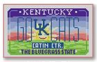 click here to view larger image of Mini License Plate - Go Cats - Kentucky (hand painted canvases)