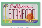 click here to view larger image of Mini License Plate - Stanford - California (hand painted canvases)