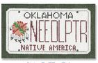 click here to view larger image of Mini License Plate - Oklahoma (hand painted canvases)