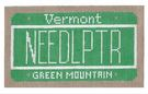 click here to view larger image of Mini License Plate - Vermont (hand painted canvases)