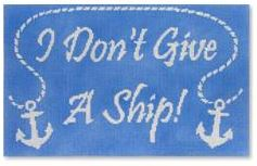 click here to view larger image of I Don't Give a Ship (hand painted canvases)