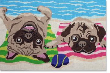 click here to view larger image of Pug Life (hand painted canvases)