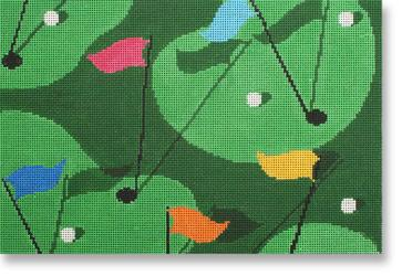 click here to view larger image of Golf Grass (hand painted canvases)