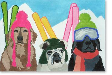 click here to view larger image of Ski Patrol (hand painted canvases)