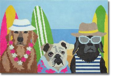 click here to view larger image of Beach Patrol (hand painted canvases)
