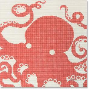 click here to view larger image of Octopus - Coral (hand painted canvases)