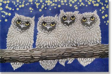 click here to view larger image of Owls Night (hand painted canvases)