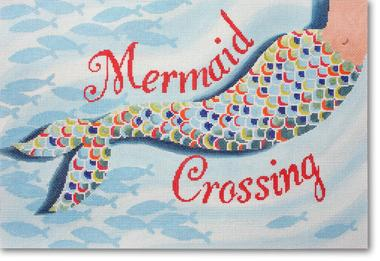 click here to view larger image of Mermaid Crossing (hand painted canvases)