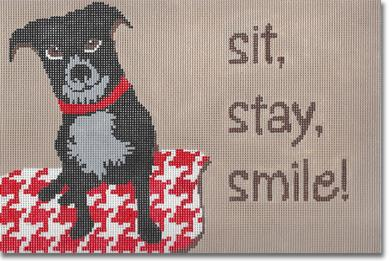 click here to view larger image of Sit Stay Smile (hand painted canvases)