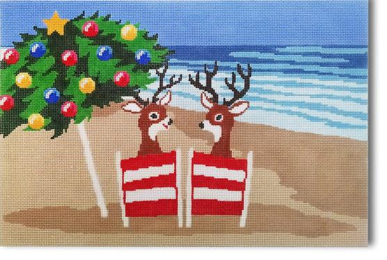 click here to view larger image of Coastal Christmas (hand painted canvases)