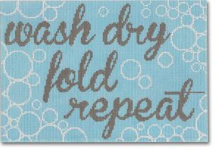 click here to view larger image of Wash Dry Fold Repeat (hand painted canvases)