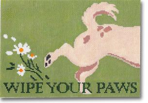click here to view larger image of Wipe Your Paws (hand painted canvases)