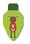click here to view larger image of Reindeer Lightbulb (hand painted canvases)