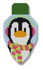click here to view larger image of Penguin Lightbulb (hand painted canvases)