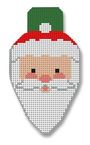 click here to view larger image of Santa Face Lightbulb (hand painted canvases)