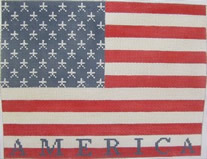 click here to view larger image of Contemporary American Flag - 13ct (hand painted canvases)