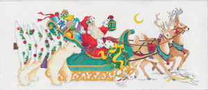 click here to view larger image of Santa's Coming To Town (hand painted canvases)