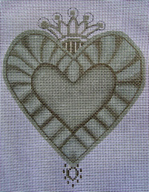 click here to view larger image of Crown Sacred Heart (hand painted canvases)