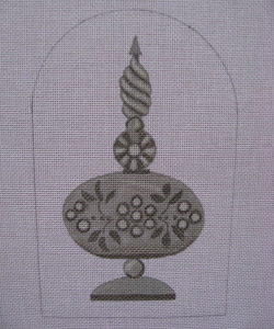 click here to view larger image of Mercury Flower Finial (hand painted canvases)