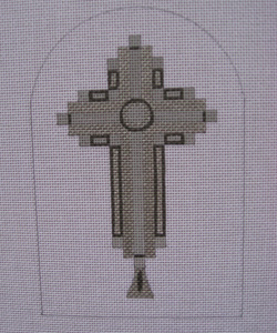 click here to view larger image of Mercury Deco Cross (hand painted canvases)