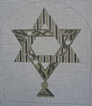 click here to view larger image of Mercury Star Of David (hand painted canvases)