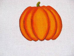 click here to view larger image of Round Pumpkin (hand painted canvases)