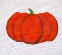 click here to view larger image of Heart Pumpkin (hand painted canvases)