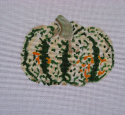 click here to view larger image of Spotted Green Pumpkin (hand painted canvases)