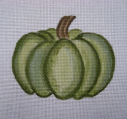 click here to view larger image of Small Green Pumpkin (hand painted canvases)
