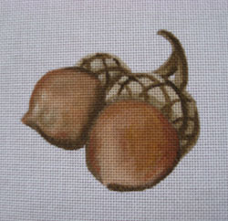 click here to view larger image of Two Acorns (hand painted canvases)