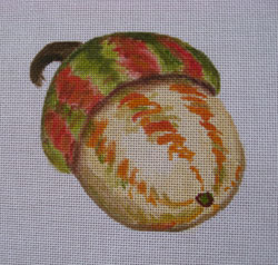 click here to view larger image of Helmet Acorns (hand painted canvases)