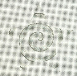 click here to view larger image of Silver/White Spiral Star (hand painted canvases)