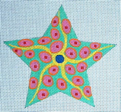 click here to view larger image of Pink/Green Starfish (hand painted canvases)