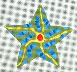click here to view larger image of Blue/Green Starfish (hand painted canvases)