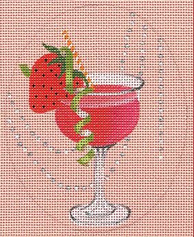 click here to view larger image of Strawberry Daiquiri (hand painted canvases)