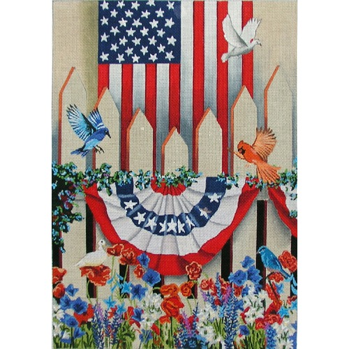 click here to view larger image of American Colors (hand painted canvases)