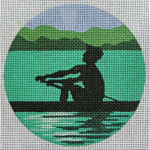 click here to view larger image of Rowing Ornament (hand painted canvases)