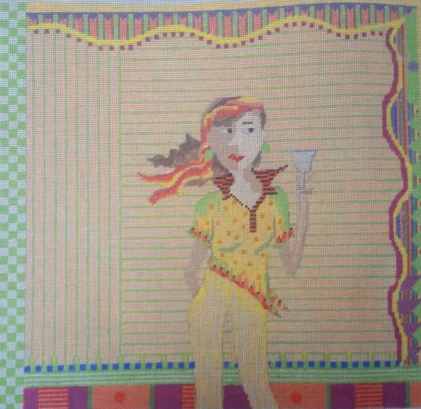 click here to view larger image of Sassy Woman (hand painted canvases)