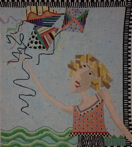 click here to view larger image of Eve Flies A Kite (hand painted canvases)
