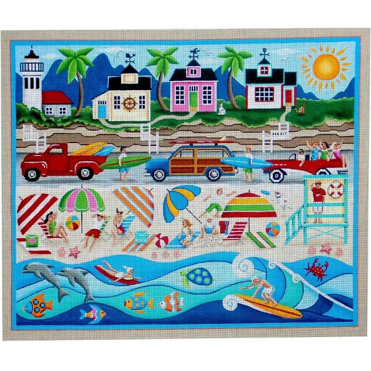 click here to view larger image of California Dreaming - 18ct (hand painted canvases)