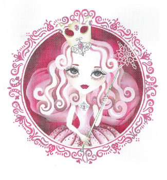 click here to view larger image of Oz Glinda (hand painted canvases)