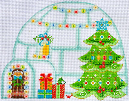 click here to view larger image of Christmas Igloo (hand painted canvases)